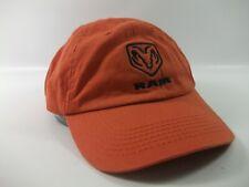 Dodge Ram Hat Orange Strapback Baseball Cap