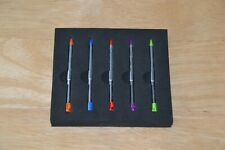 Lot of 5 Metal Retractable Stylus Pen for Nintendo 3DS Green Blue Purple Red New
