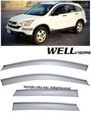 WELLVISORS Side Window Visors w/ Chrome Trim Rain Guard Honda CRV 2007-2011