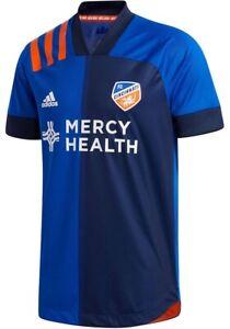 Cincinnati FC Adidas 20/21 Jersey Home MLS Blue Soccer Jersey Mens SZ 2XL EH8678