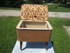 Hawkeye Burlington Vintage Mid Century Modern Sewing Box - Storage - Stool