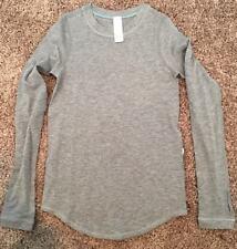 Ivivva Girls 6 Calm To Energy LS Tee Long Sleeve Heathered Gray HMDG Cotton Yoga
