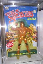 LJN Superfly Jimmy Snuka WWF Wrestling Superstars Figure MOC 5 Back w/ STAND wwe
