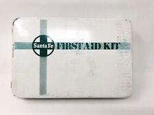 Santa Fe Railroad First Aid Kit Metal Box First Aid Supplies & Booklet Pre 1996