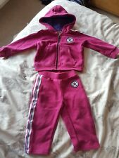 2x baby girl tracksuits converse and gap