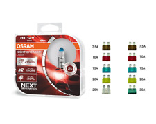 OSRAM 12V Night Breaker Laser +150% mehr Helligkeit + KFZ Flach Sicherungen
