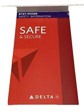 Delta Air Lines Be Safe And Secure Boeing B737-900ER Safety Card 2015