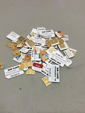 Lot 50 Sim Cards At&T Mobile Verizon etc Mix Sizes Used Variety Gold Recovery