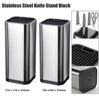 Knife Stand Block Holder Stainless Steel Knives Utensils Organizer Rack 14 Slot