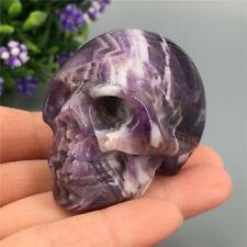 """2"""" Natural chevron Quartz Crystal skull Carved Dream Amethyst Skull Healing 1pc"""