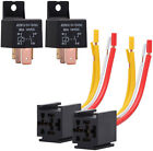 2 PCS Car Relay 4Pin DC 12V 80A Normally Open SPST with Relay Socket Plug 4 Wire
