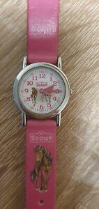 Scout Kinderuhr Mädchen rosa Pferd