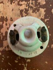 Antique Circa 1900 Bryant Porcelain Base Rosette Light Switch