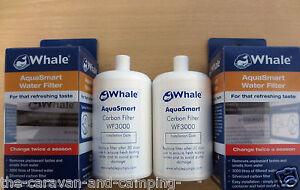 Whale WF3000 Water Filter x 2 - Whale Aquasmart Filter WF3000 Caravan Motorhome