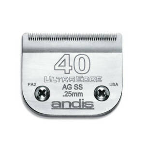 Andis UltraEdge Detachable Blade, Size 40 - Leaves 0.25mm Fits Andis, Wahl, Oste