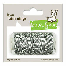 Cloudy Gray Hemp Bakers Twine by Lawn Fawn, 21 Yards, Grey and White