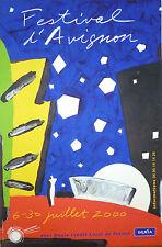 Aki KURODA Affiche originale lithographie musique festival d'Avignon