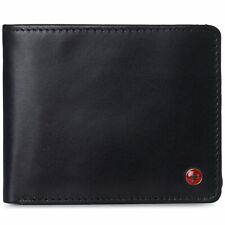 Alpine Swiss Mens RFID Protected Wallet 2 ID Windows Leather Bifold Commuter