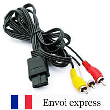 Cable video / peritel RCA pour Nintendo SNES - N 64 et Gamecube - Cordon NEUF