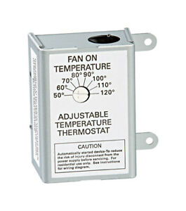 Air Vent 58033 Stainless Steel Single Speed Adjustable Automatic Thermostat