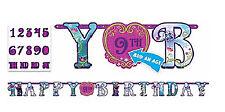 Frozen Anna Elsa Add An Age Letter Banner Decoration Birthday Party Supplies 10'