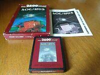 Solaris (Atari 2600, 1986) By Atari (Box, Cartridge & Manual) Fast Free Shipping