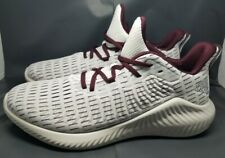 New ADIDAS Men's ALPHABOUNCE+ u Runnkng Shoes Size 11 EF8183 White/Maroon