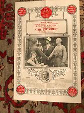 "The Explorer 1915  Lasky 12x19"" silent  one sheet Lou Tellegen Cecil B. DeMille"