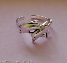 Dolphins Toe Ring Sterling Silver