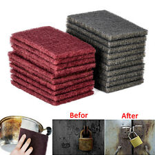 20pcs 15 x 10 x 0.7cm Grey / Red Abrasive Finishing Fine Scotch Brite Pads