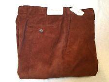 Peter Millar Nanoluxe  Corduroy Pants NWT $145 34 x 36 Rust Brown