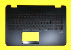 TopCase mit DE Tastatur Asus ROG G551 G551JK G551JM mit Beleuchtung Backlit