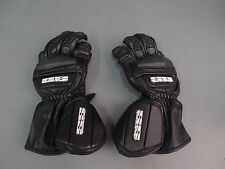 Speed & Strength Power Black Leather Motorcycle Gloves Size Small