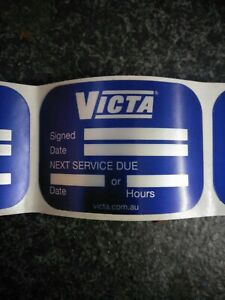 Victa lawn mower Service Stickers New old stock