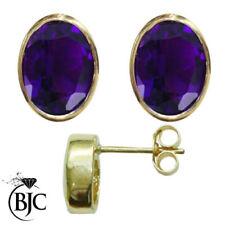 Orecchini di lusso bottoni viola, ametista