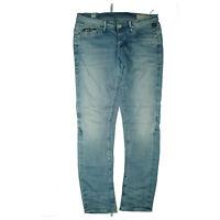 G-STAR Herren Jeans loose Hose 34/32 W34 L32 stonewash used blau TOP S5