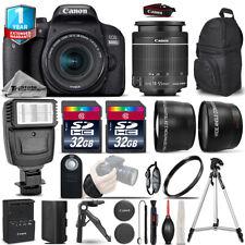 Canon Rebel 800D T7i DSLR Camera + 18-55mm IS STM + Flash + 64GB + 1yr Warranty