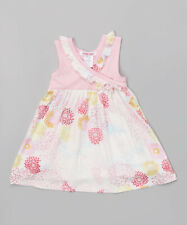 NWT Baby Nay Girls Pink Daisy Summer Dress 12 Months