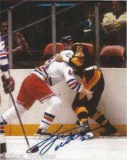 Vancouver Canucks Tiger Williams Signed Autographed 8x10 NHL Photo COA C