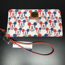 NWT Disney Dooney & Bourke Americana Wallet Red White Blue Canvas Mickey
