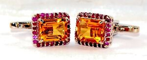 925 Sterling Silver With Natural Citrine & Natural Ruby in New Design Men's Ring