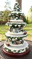 "Table Top 16"" Thomas Kinkade Wonderful Express Christmas tree train - see VIDEO"