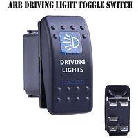 12V 20A Bar ARB Carling Rocker Toggle Switch Blue LED Car Boat Driving Light