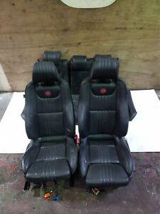 ALFA ROMEO 159 FRONT INTERIOR LEATHER SEATS BLACK