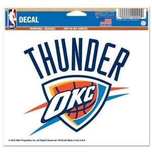 "Oklahoma City Thunder 5""x6"" Multi Use Decal [NEW] NBA Car Truck Sticker Emblem"