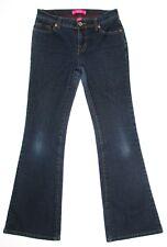 Glo Junior Womens Jeans Dark Flare Stretch Low Rise Size 3 x 30