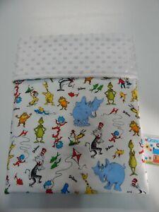 Baby Blanket Dr Seuss Bassinet Capsule Moses Basket Minky Back