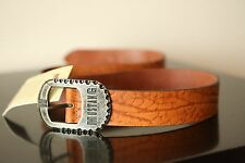 Mustang Leather Brown Belt Length 45Inc / 115cm