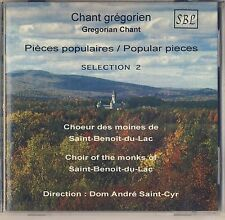 Gregorian Chant: Choir of the Monks of Saint-Benoit-du-Lac (SBL) Like New