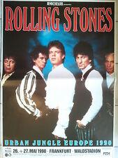 ROLLING STONES  1990  FRANKFURT - orig. Concert Poster - Plakat  118x84 cm NEU